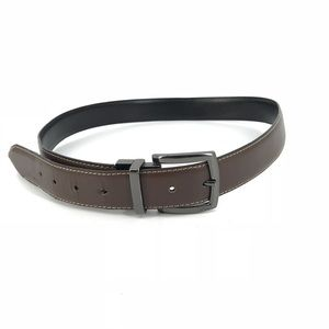 Columbia Sz 34 Reversible Leather Belt Brown Black